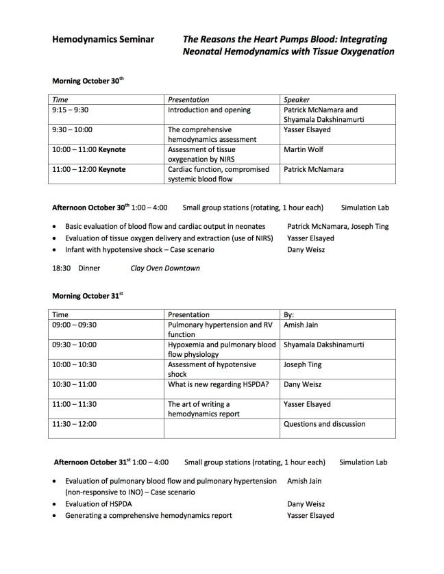 Hemodynamics Seminar Schedule Oct 30-31 2015 copy